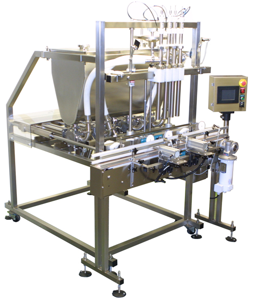 Piston-Filling-system Liquid Filling, Capping, Cap Sealing, Conveying & Labeling