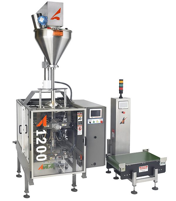 A-1200-with-Model-B-and-HW-15-600x684 Powder Filling, Weighing & Bagging